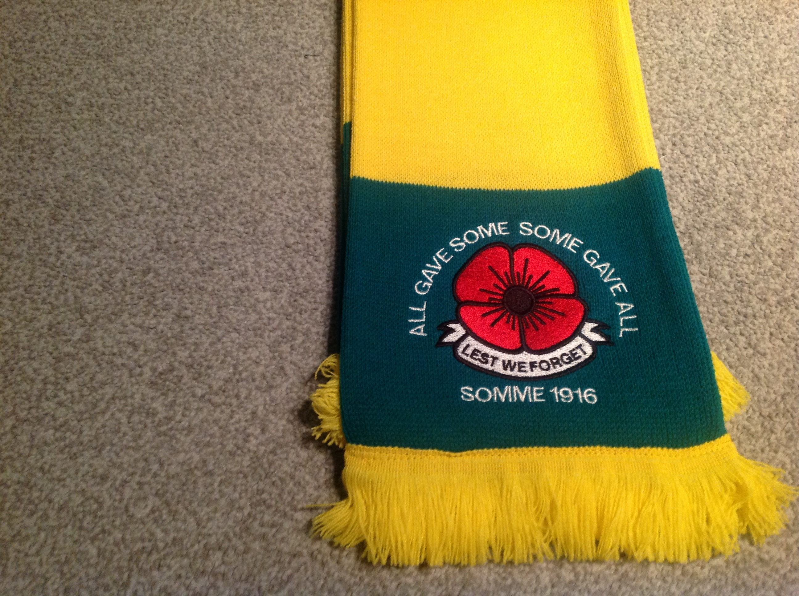 Militaria LEST WE FORGET.LTD EDITION..FREE POST BOURNEMOUTH F C EMBROIDERED POPPY SCARF