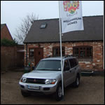 car-flagpole