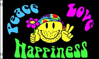 Sale!  sc 1 st  The Flagman & PEACE  LOVE  HAPPINESS FESTIVAL TENT MARKER FLAG | The Flagman
