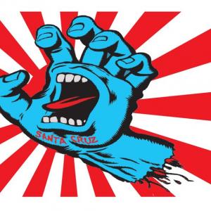 screaming hand flag