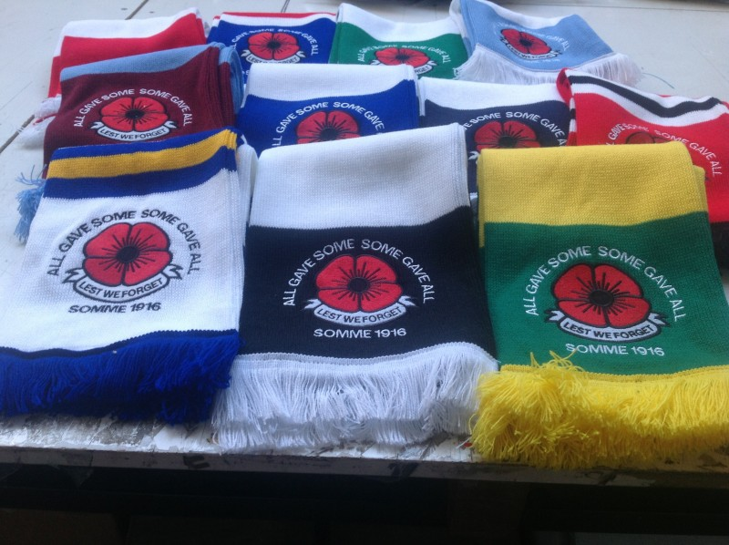 Glasgow Rangers Poppy Scarf The Flagman