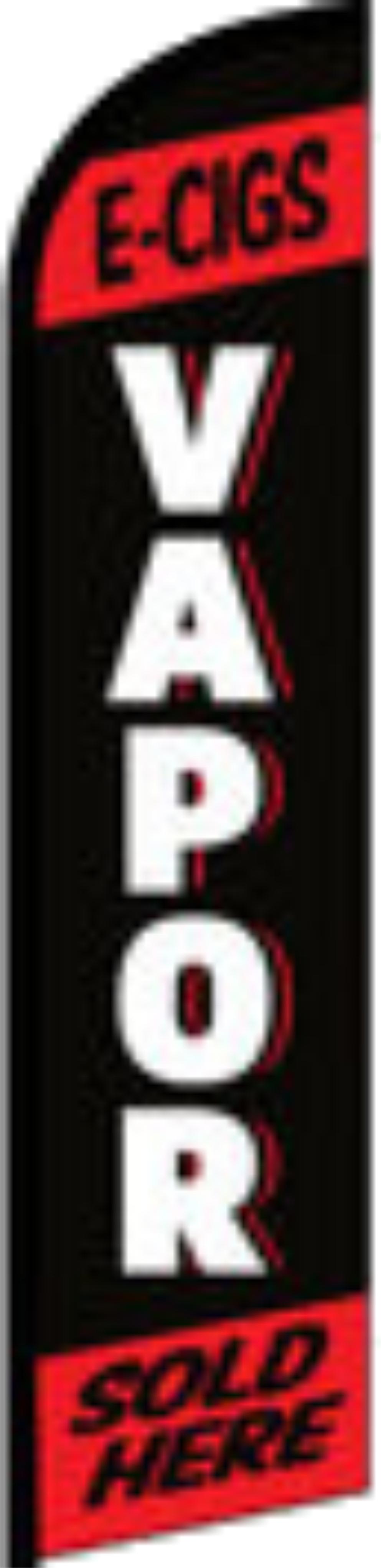 Vapor Red Black Advertising Windless Banner Flag The